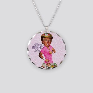 happy mothers day trump Necklace Circle Charm