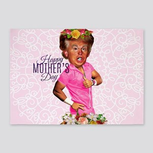 happy mothers day trump 5'x7'Area Rug