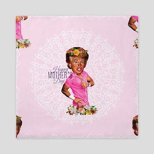happy mothers day trump Queen Duvet