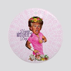 happy mothers day trump Round Ornament