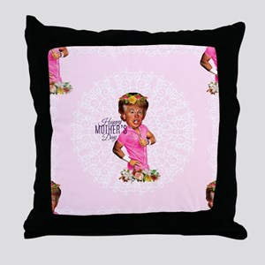 happy mothers day trump Throw Pillow