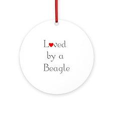 Loved by a Beagle Keepsake (Round)
