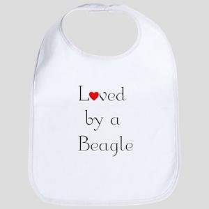 Loved by a Beagle Bib