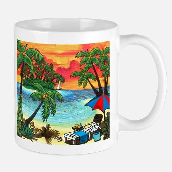 tropical coffee mug