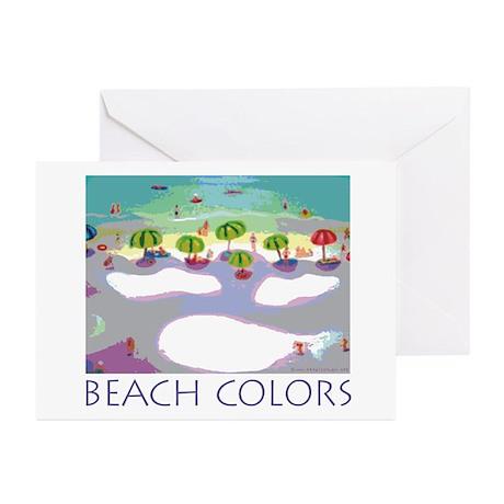 Beach Colors Seashore Greeting Cards (Pk of 10)