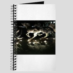 Horse Stampede Sculpture Journal
