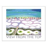 Beach View from the Top Small Poster