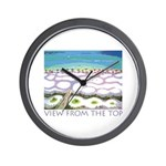 Beach View from the Top Wall Clock