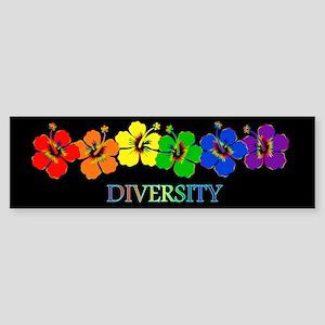 Hibiscus Diversity Bumper Sticker