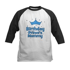 Birthday Prince's Mommy! Kids Baseball Jersey