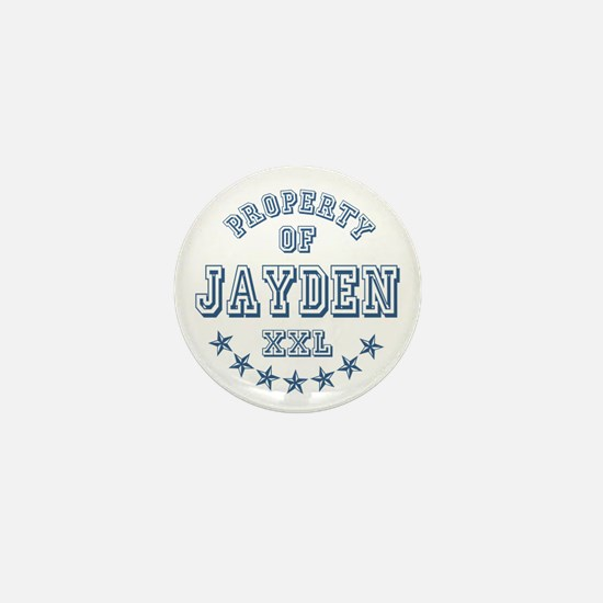 Property of Jayden Personalized Mini Button
