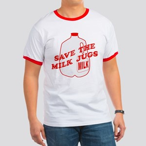 Save The Milk Jugs Ringer T