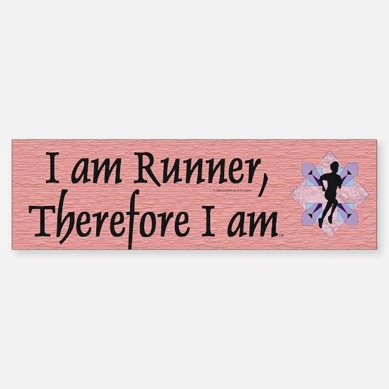 I Am Runner Sticker (Bumper)