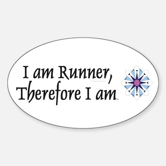 I Am Runner Sticker (Oval)