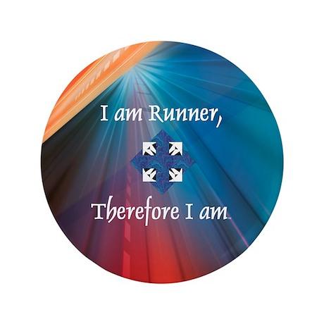 """I Am Runner 3.5"""" Button (100 pack)"""
