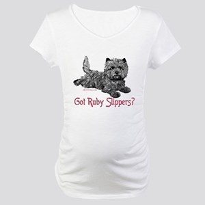 Cairn Terrier Ruby Slippers Maternity T-Shirt