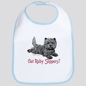 Cairn Terrier Ruby Slippers Bib