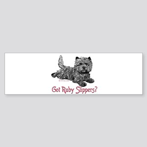 Cairn Terrier Ruby Slippers Bumper Sticker