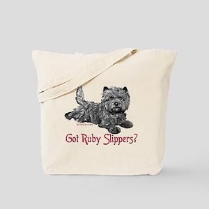 Cairn Terrier Ruby Slippers Tote Bag