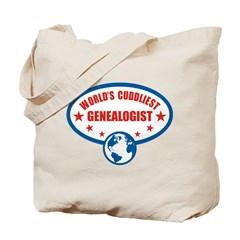 Worlds Cuddliest Genealogist Tote Bag