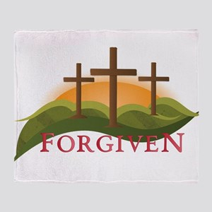 Forgiven Throw Blanket