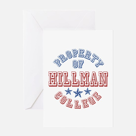 Hillman College Property Of Greeting Card