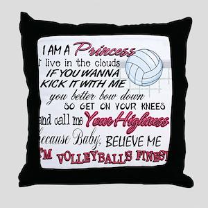 Volleyball's Finest Throw Pillow