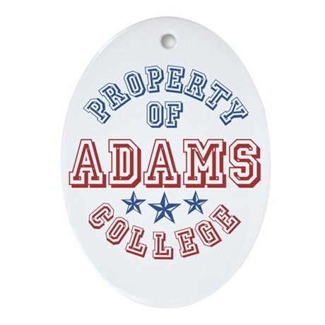 Adams College Property Of Oval Ornament