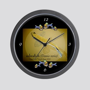 Zebrafish Wall Clock