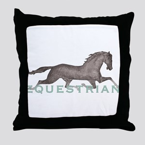 Horse Equestrian Throw Pillow