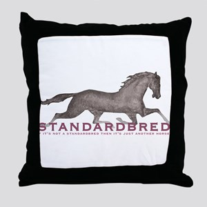 Standardbred Horse Throw Pillow