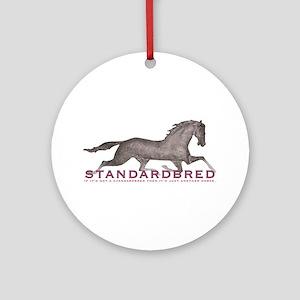 Standardbred Horse Ornament (Round)