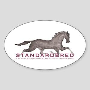 Standardbred Horse Oval Sticker