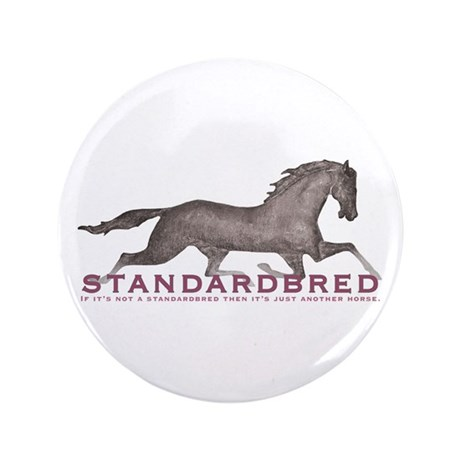 "Standardbred Horse 3.5"" Button"