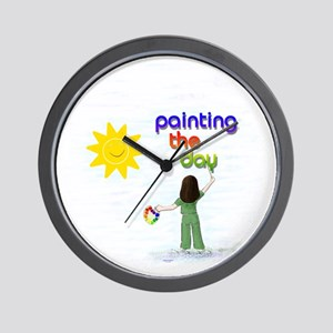 Painting the Day (A) Wall Clock