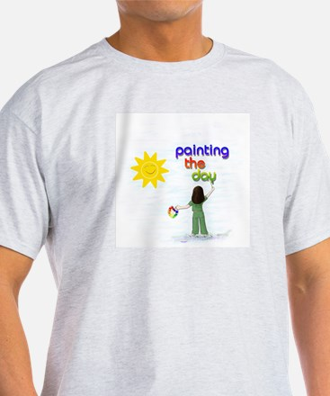 Painting the Day (A) Ash Grey T-Shirt