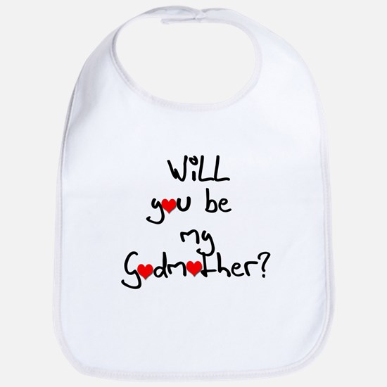Be my Godmother? Baby Bib