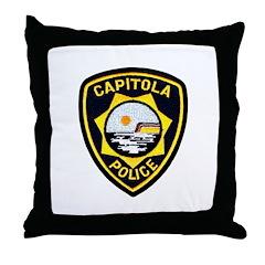 Capitola Police Throw Pillow