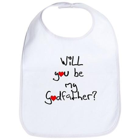 Be my Godfather? Baby Bib