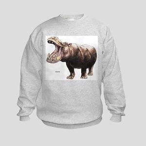 Hippo Hippopotamus (Front) Kids Sweatshirt