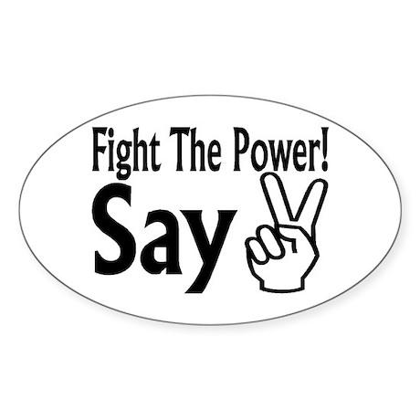 Say Peace Oval Sticker (10 pk)