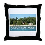 Olson Cottages Throw Pillow