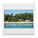 Olson Cottages Tile Coaster