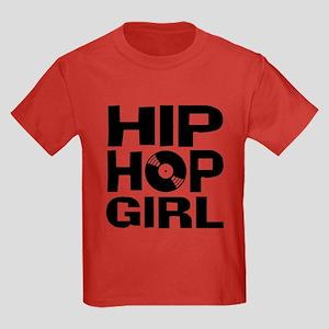 Hip Hop Girl Kids Dark T-Shirt