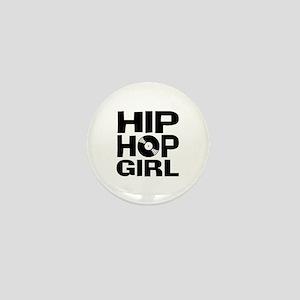Hip Hop Girl Mini Button