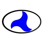 Trimaris Populace Oval Sticker (10 pk)