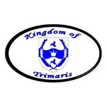 Kingdom of Trimaris Oval Sticker (10 pk)