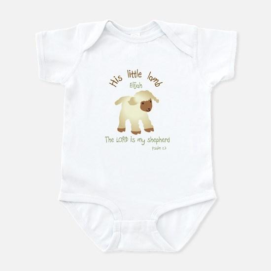 His Little Lamb Elijah Christian Infant Bodysuit