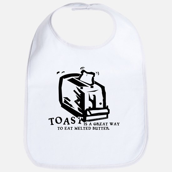 Toast Melted Butter Bib
