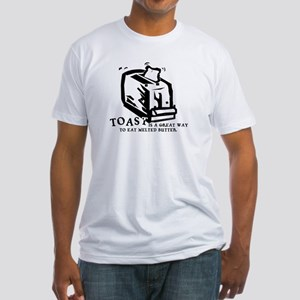 Toast Melted Butter Fitted T-Shirt